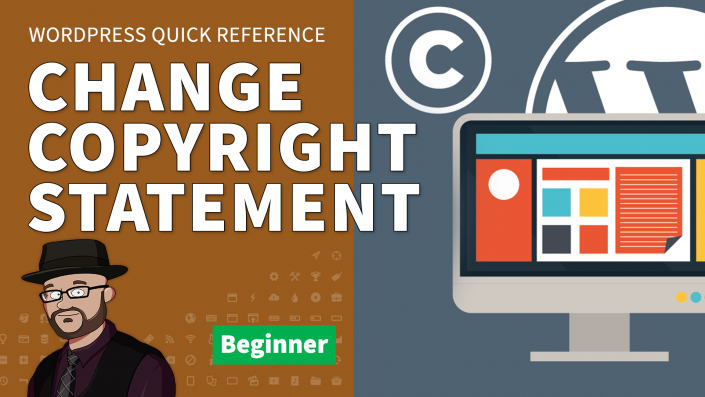 Change / Remove the Copyright Notice from the Footer in WordPress